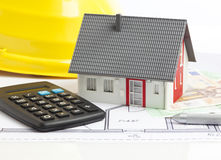 Cost of building a house Royalty Free Stock Photo