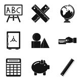 Cost calculation icons set, simple style Royalty Free Stock Image