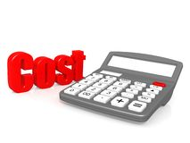 Cost with calculator Royalty Free Stock Image