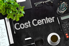 Cost Center Concept on Black Chalkboard. 3D Rendering. Royalty Free Stock Image