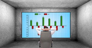 Cost chart Stock Image