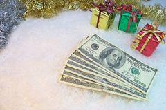 Cost of Christmas Stock Image