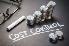 Cost Control and Coins Stock Photos