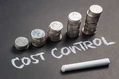 Cost Control and Coins Stock Photography
