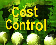 Cost Control Represents Charge Paying And Finances Royalty Free Stock Photography