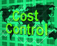 Cost Control Shows Price Purchase And Balance Stock Photography