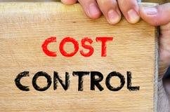 Cost control text concept Stock Photos