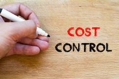 Cost control text concept Stock Photography