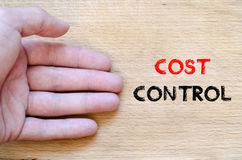 Cost control text concept Royalty Free Stock Photos