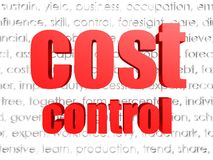 Cost control word cloud. With white background Stock Images