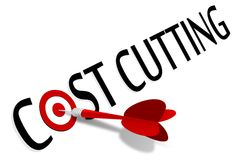 Cost cutting Royalty Free Stock Photography