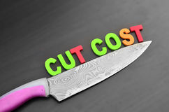 Cost cutting concept Royalty Free Stock Image