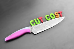 Cost cutting concept Stock Image