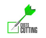 Cost cutting dart check mark illustration Stock Image
