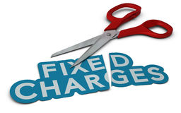 Cost Cutting, Fixed Charges Royalty Free Stock Photography