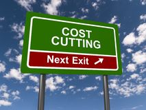 Cost cutting, next exit Stock Photos
