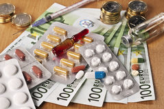 Cost of drugs Stock Photos