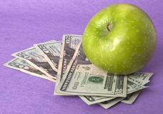 Cost of Education Health Care or Food Stock Image