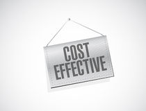 Cost effective hanging sign concept Royalty Free Stock Photography