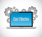 Cost effective laptop tech sign concept Royalty Free Stock Images