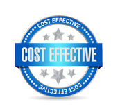 Cost effective seal sign concept Royalty Free Stock Photo