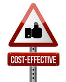 Cost effective warning like sign concept Royalty Free Stock Photography