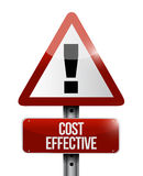 Cost effective warning sign concept Stock Photo