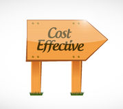 Cost effective wood sign concept Stock Photography