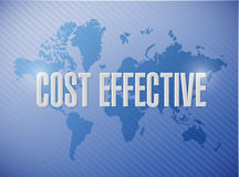 Cost effective world sign concept Stock Photography