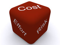 Cost, Effort, Risk. Image of Cost and Effort Royalty Free Stock Photography