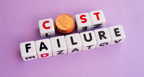 Cost of failure Stock Photos