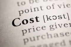 Cost Stock Images