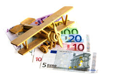 Cost of flying due to oil prices Royalty Free Stock Photography