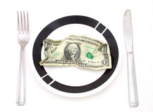 Cost of food Royalty Free Stock Image