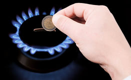 Cost of gas Stock Image