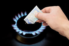 Cost of gas Royalty Free Stock Photos