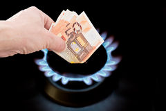 Cost of gas. The cost of natural gas more expensive Stock Photo
