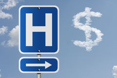 Cost of going to the hospital Royalty Free Stock Photo