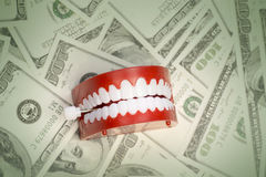 Cost of having a healthy happy smile concept image Stock Photos