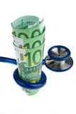 Cost of health with Euro  Stock Images