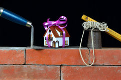 Cost home four stock images
