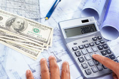 Cost of house construction Royalty Free Stock Images