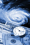 Cost of a hurricane royalty free stock photography