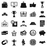Cost icons set, simple style Royalty Free Stock Photography