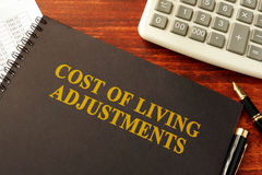 Cost of Living Adjustments COLAs. Stock Photos