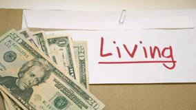 Cost of Living Concept stock video footage