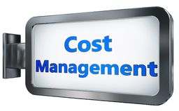 Cost Management on billboard background. Cost Management wall light box billboard background , isolated on white Stock Images