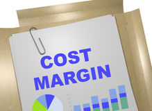 Cost Margin concept. 3D illustration of COST MARGIN title on business document Royalty Free Stock Photo