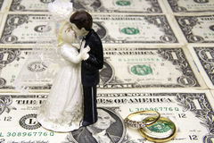 Cost of Marriage Royalty Free Stock Images