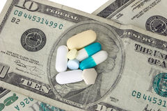 Cost of Medicine. Conceptual of the cost of healthcare today Royalty Free Stock Photo